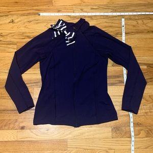 Kate Spade - navy cotton workout zip up